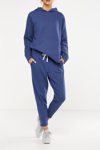 Tapered Leg 7/8 Trackpant, ALPINE BLUE
