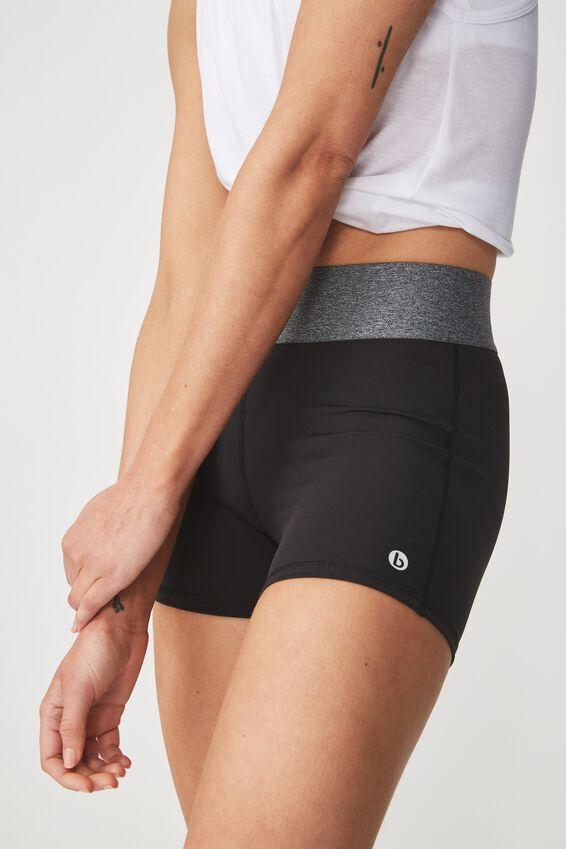 Active Gym Short, BLACK / SALT & PEPPER