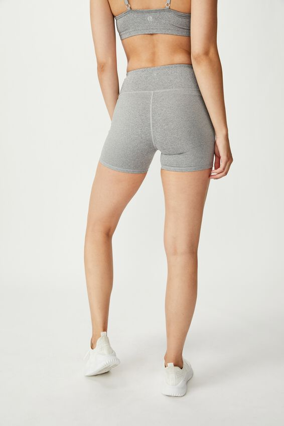 Highwaisted Shortie Short, MID GREY MARLE