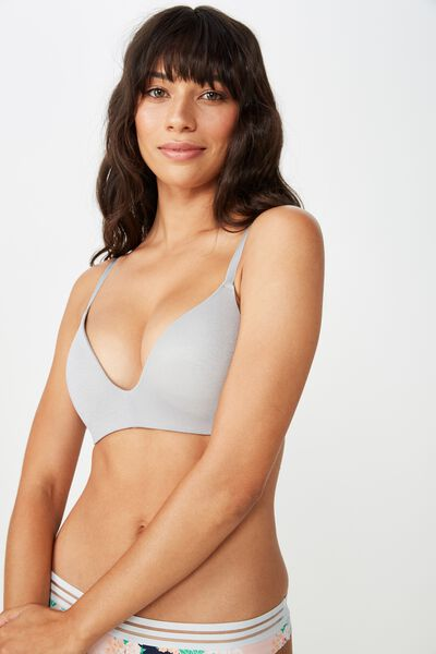 Ultimate Comfort Bra, GREY MARLE