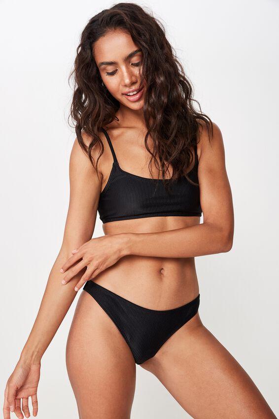 Classic Full Bikini Bottom, BLACK RIB