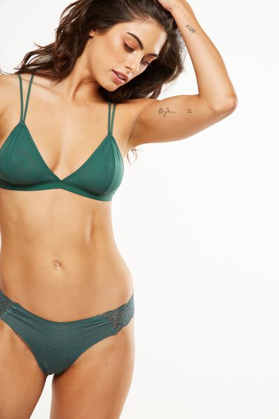 Party Pants Seamless G-String Brief, EMERALD GREEN MARLE