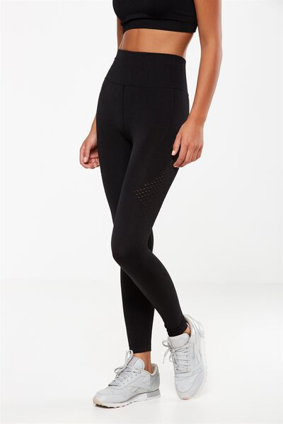 Seamfree Jaquard Tight, BLACK