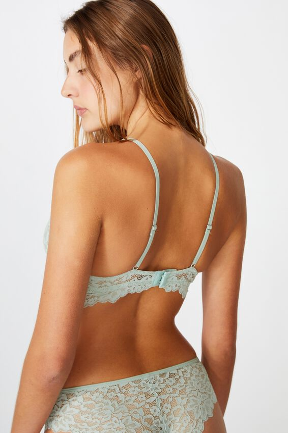 Ivy Longline Underwire Bra, ALOE WASHED