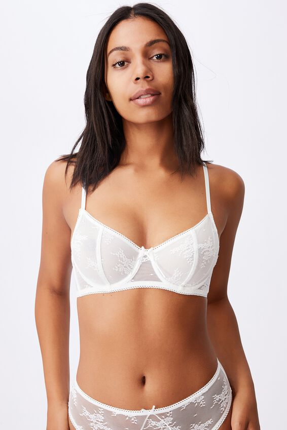 Cherry Blossom Underwire Bra, CREAM