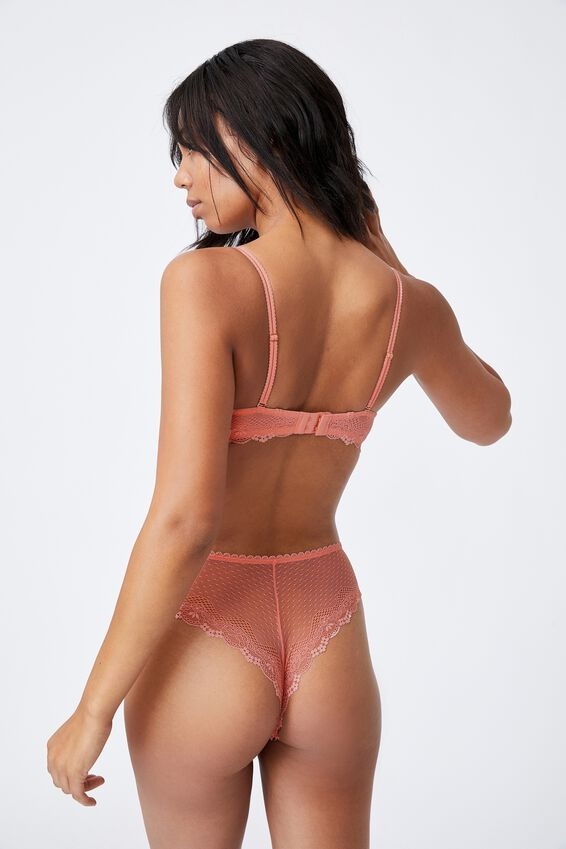 Stevie Lace Unlined Strapless Bra, PINK ALMOND
