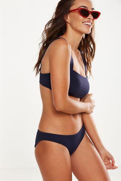 Classic Seamless Full Bikini Bottom, INDIGO MATTE