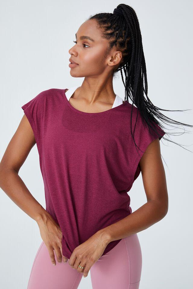 Active Scoop Hem Tshirt, PINOT ROSE