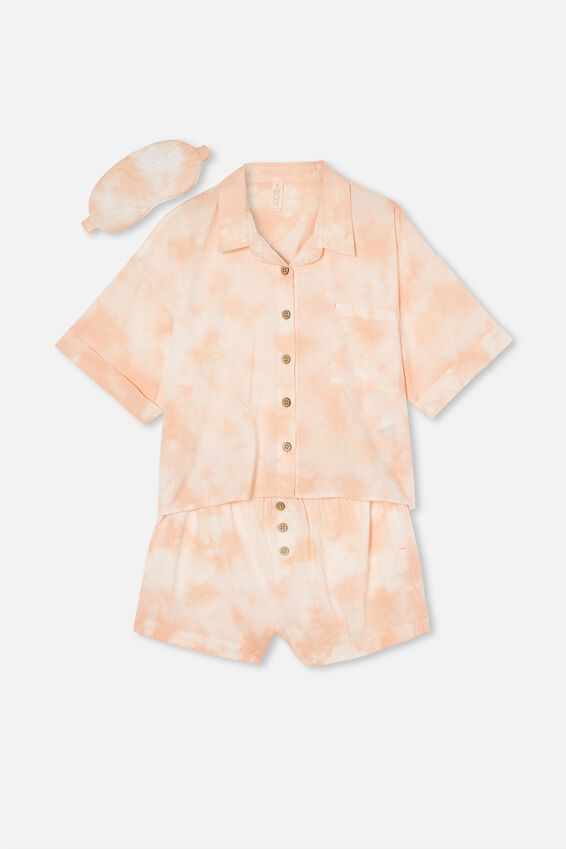 Washed Woven Sleep Set, FUNFETTI TIE DYE