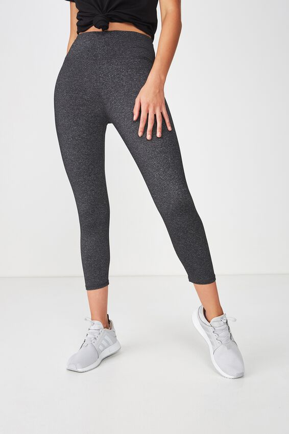 Active Core Cropped Tight, CHARCOAL MARLE