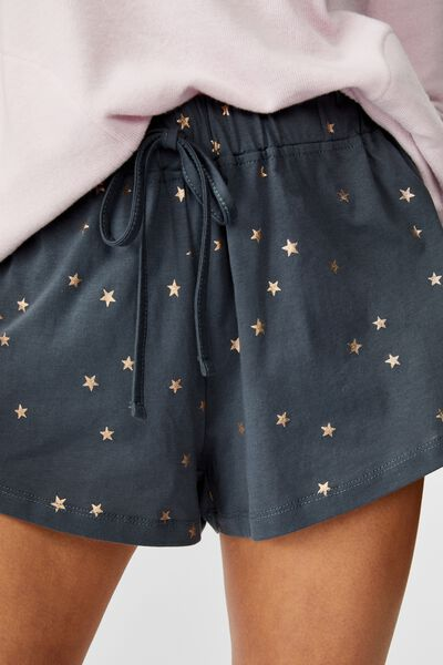 Jersey Bed Short, SCATTERED STARS/IRON