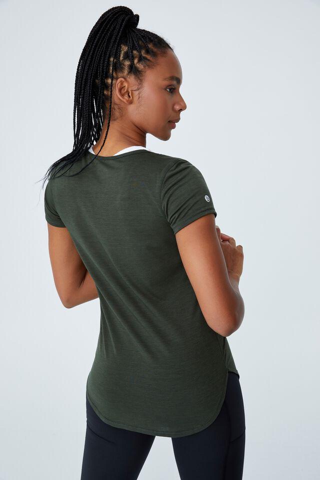 Gym T Shirt, KHAKI