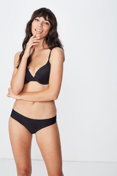 Seamless Essential Bikini Brief, BLACK