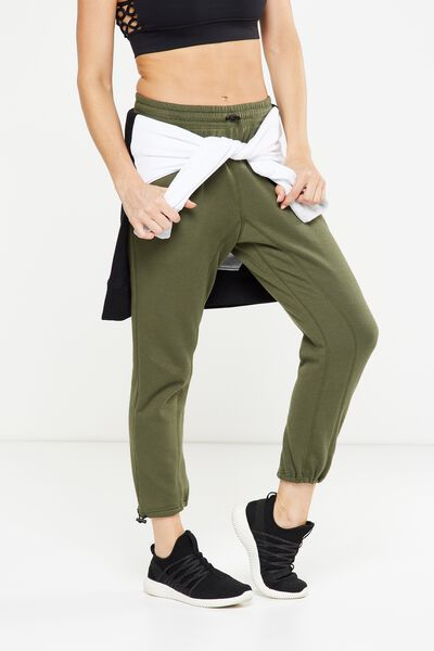 Toggle Track Pant, OLIVE GREEN