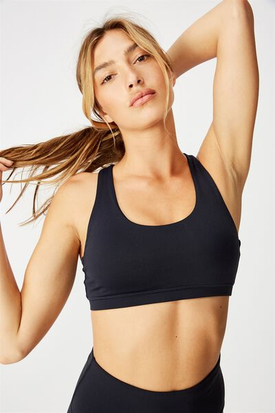 Strappy Sports Crop, NAVY