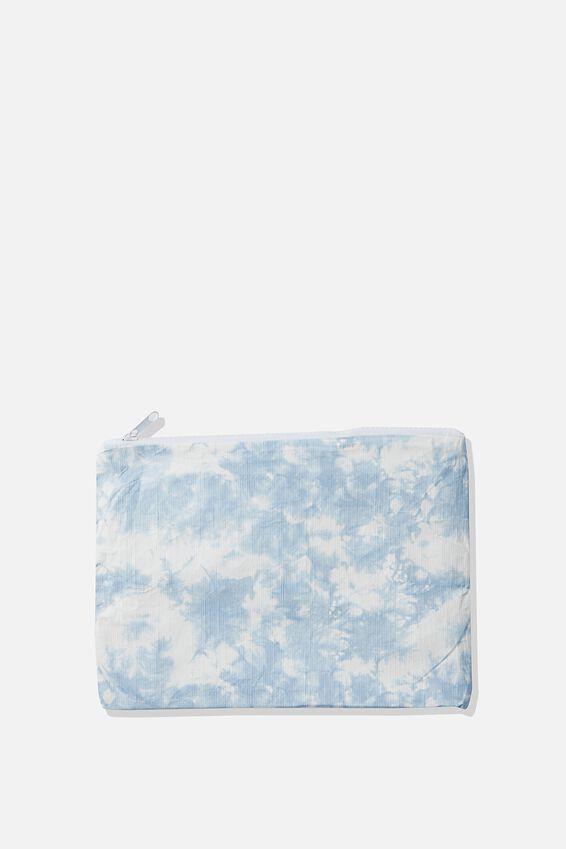 Summer Essentials Bikini Bag, POWDER BLUE TIE DYE