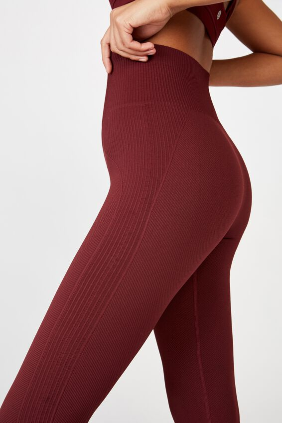 Lifestyle Rib Seamless Tight, MULBERRY