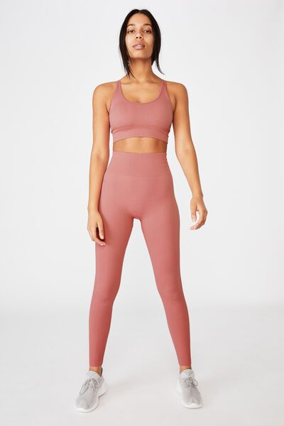 Lifestyle Rib Seamless Tight, BUBBLEGUM