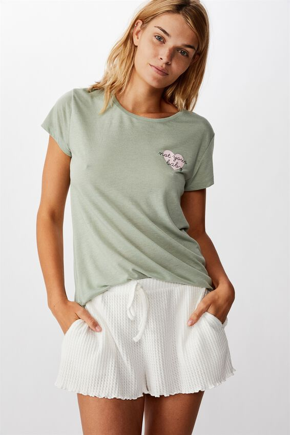 Dreamy Sleep T-Shirt, NOT YOUR BABY/ALOE WASHED