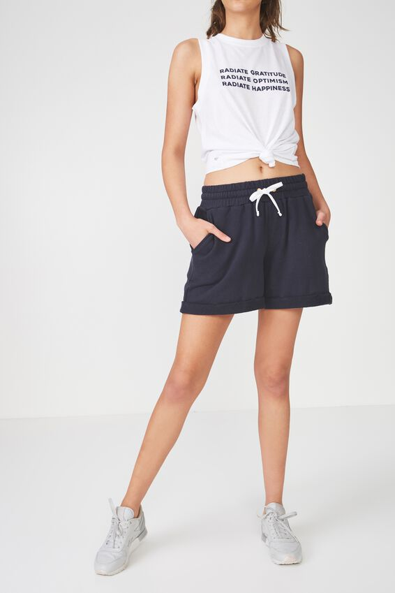 Lifestyle Fleece Short, NAVY