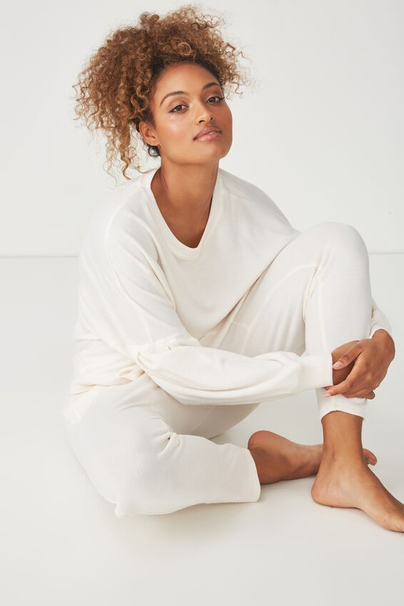 Supersoft Bubble Sleeve Top, EGGNOG