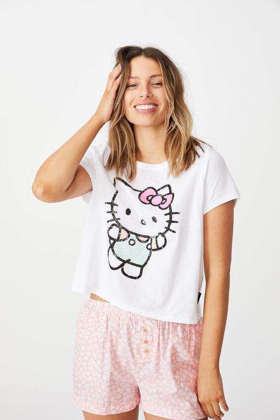 License Jersey Sleep T-Shirt, LCN SAN HELLO KITTY WAVE