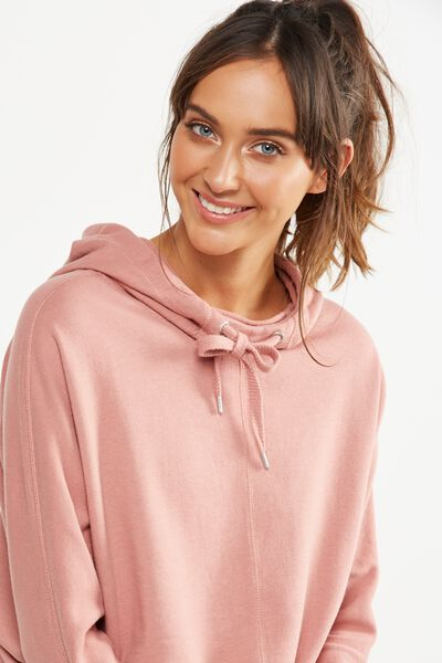 Bliss Longsleeve Sweat Top, ASH ROSE