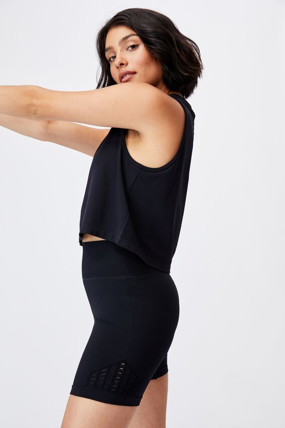 Lifestyle Seamless Yoga Short, BLACK