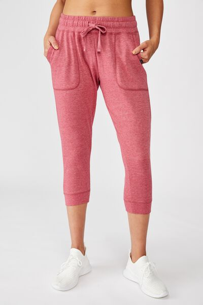 Cropped Gym Track Pants, BAROQUE ROSE MARLE