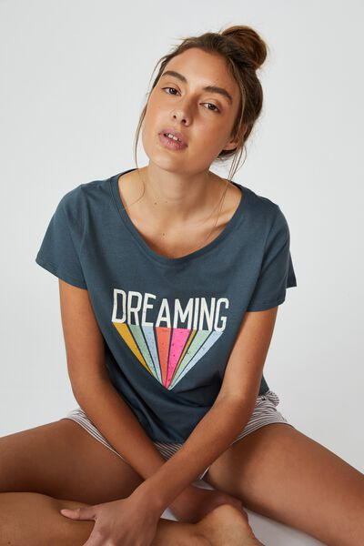 Jersey Bed T-Shirt, DREAMING/IRON