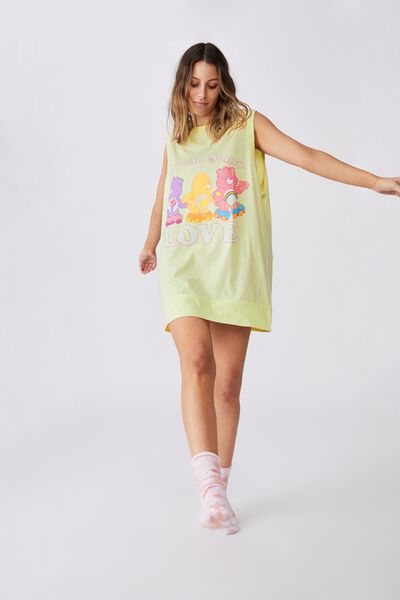 90 S Tank Nightie, LCN WP CARE BEARS/WASHED LEMONADE