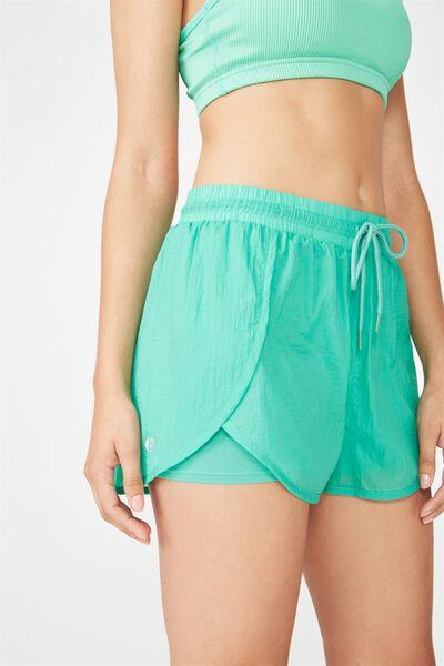 Crinkle Jogging Short, KELLY GREEN