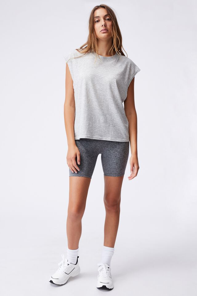 Lifestyle Slouchy Muscle Tank, GREY MARLE
