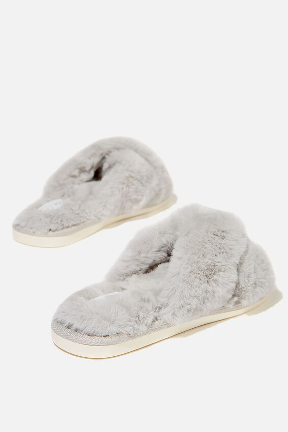 Duo Crossover Slipper, GREY