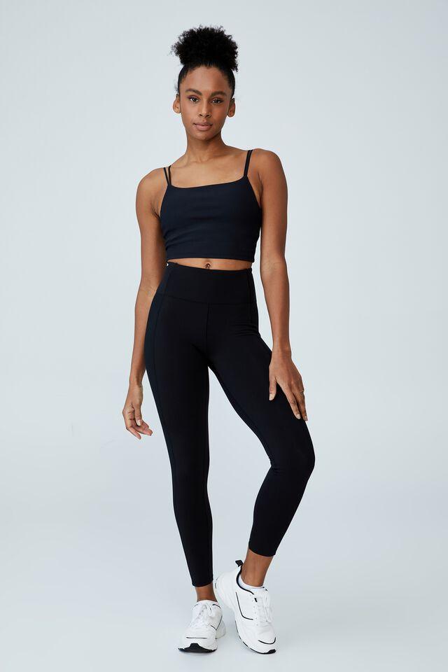 Highwaisted Yoga Full Length Tight, BLACK