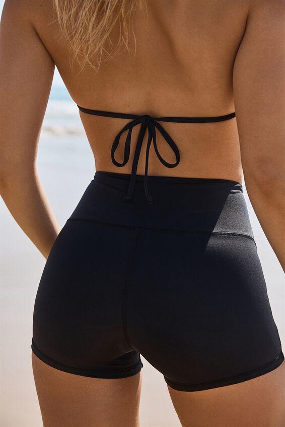 Panelled Swim Short, BLACK