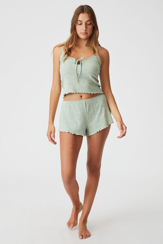 Pretty Little Sleep Short, SPRIGGY PETITE DITZY WASHED MINT