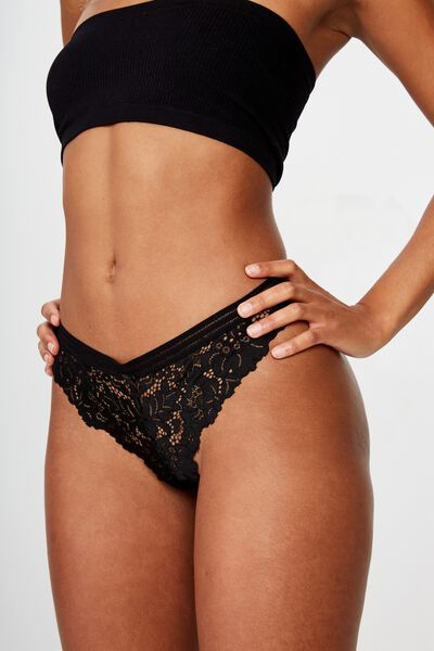 Olivia G-String Brief, BLACK