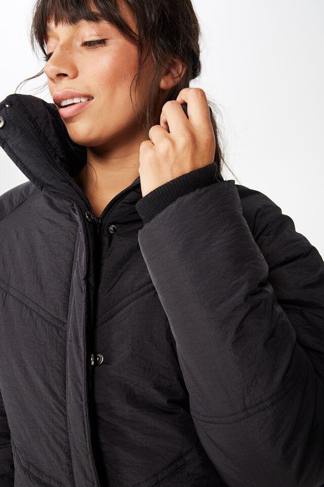 Hiking Puffer Jacket, BLACK