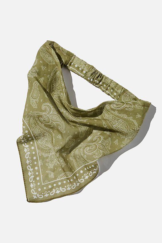 Back To Nature Bandana Scarf, OREGANO PAISLEY