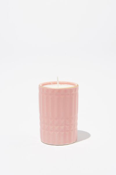 Body Embossed Candle, CRYSTAL PINK