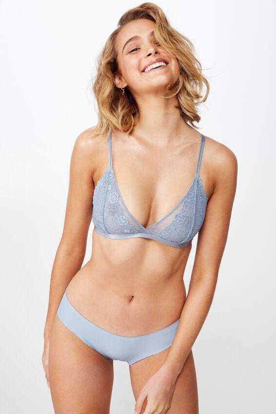 Party Pants Seamless Bikini Brief, FADED DENIM