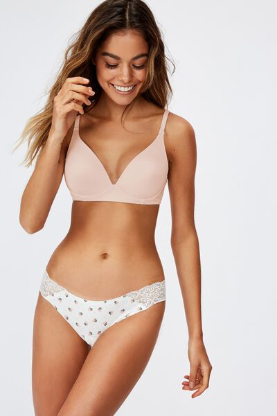 Wirefree Everyday T-Shirt Bra, CRYSTAL PINK