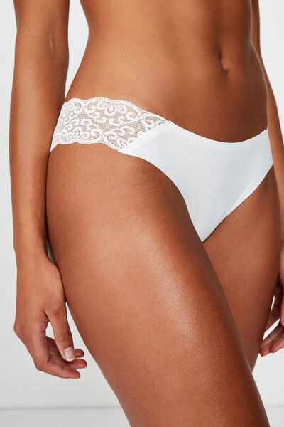 Party Pants Seamless Brasiliano Brief, CREAM