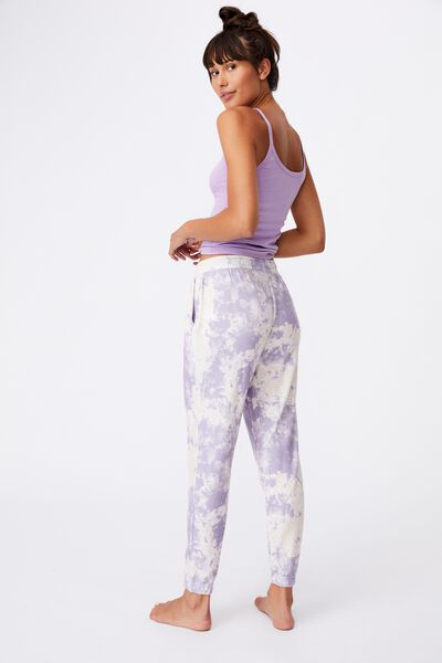 Super Soft Slim Cuff Pant, LILAC MARBLE TIE DYE