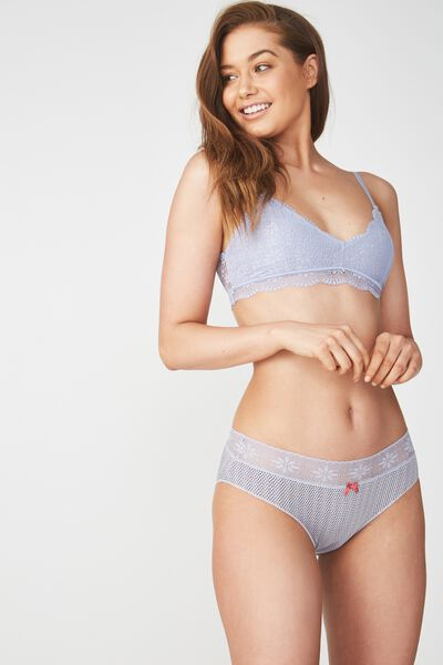 High Waist Super Soft Bikini Brief, LILAC SPOT
