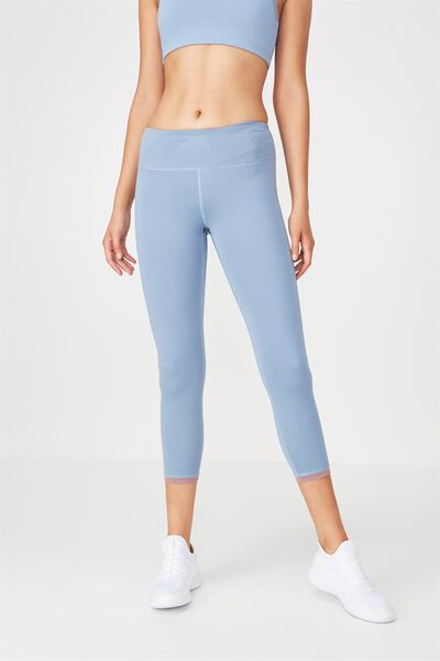 Recycled Highwaisted Yoga 7/8 Tight, FROSTED BLUE