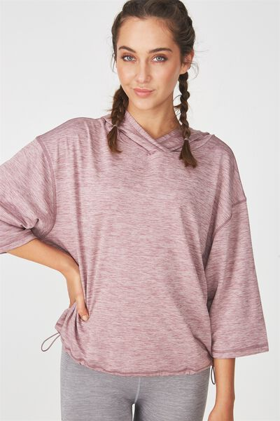 Sporty Pullover, THISTLE MAUVE MARLE