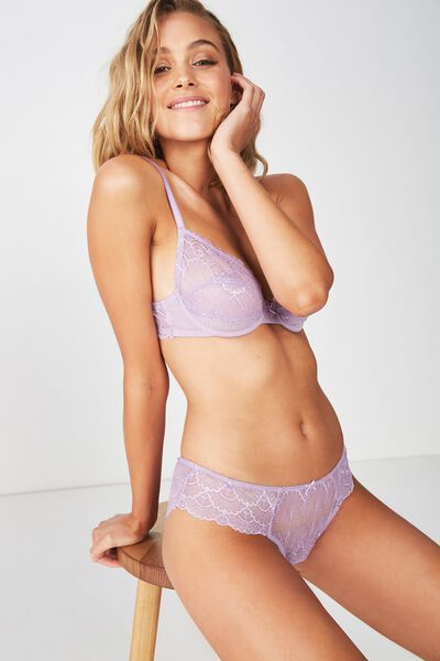 Abby Brasiliano Brief, PURPLE DOVE