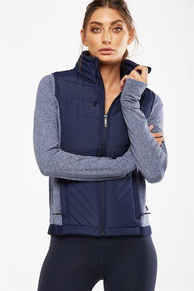 Active Slimline Puffer Jacket, DARK INDIGO